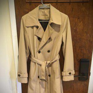 Calvin Klein Beige Trench Coat